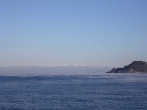松崎町から見る南アルプス(1月)