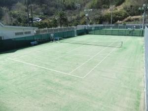 松崎町営テニスコート5面