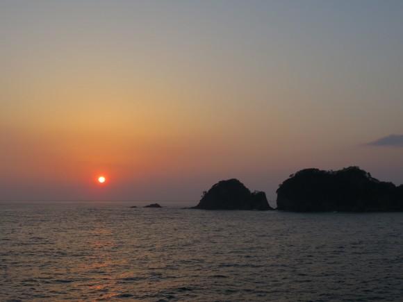 夕陽の駿河湾