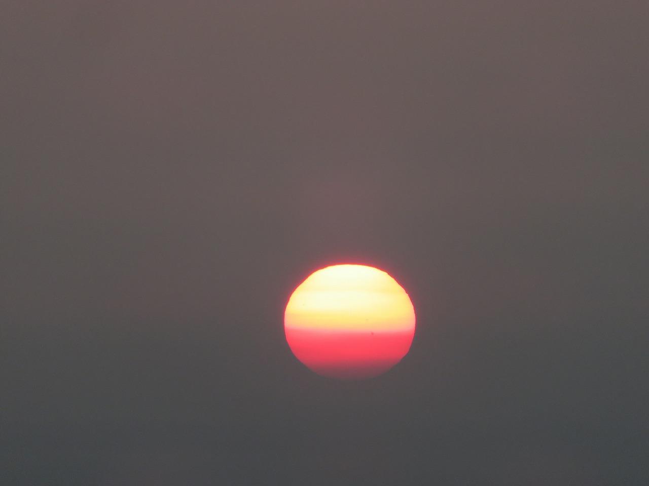 沢田公園の夕陽3