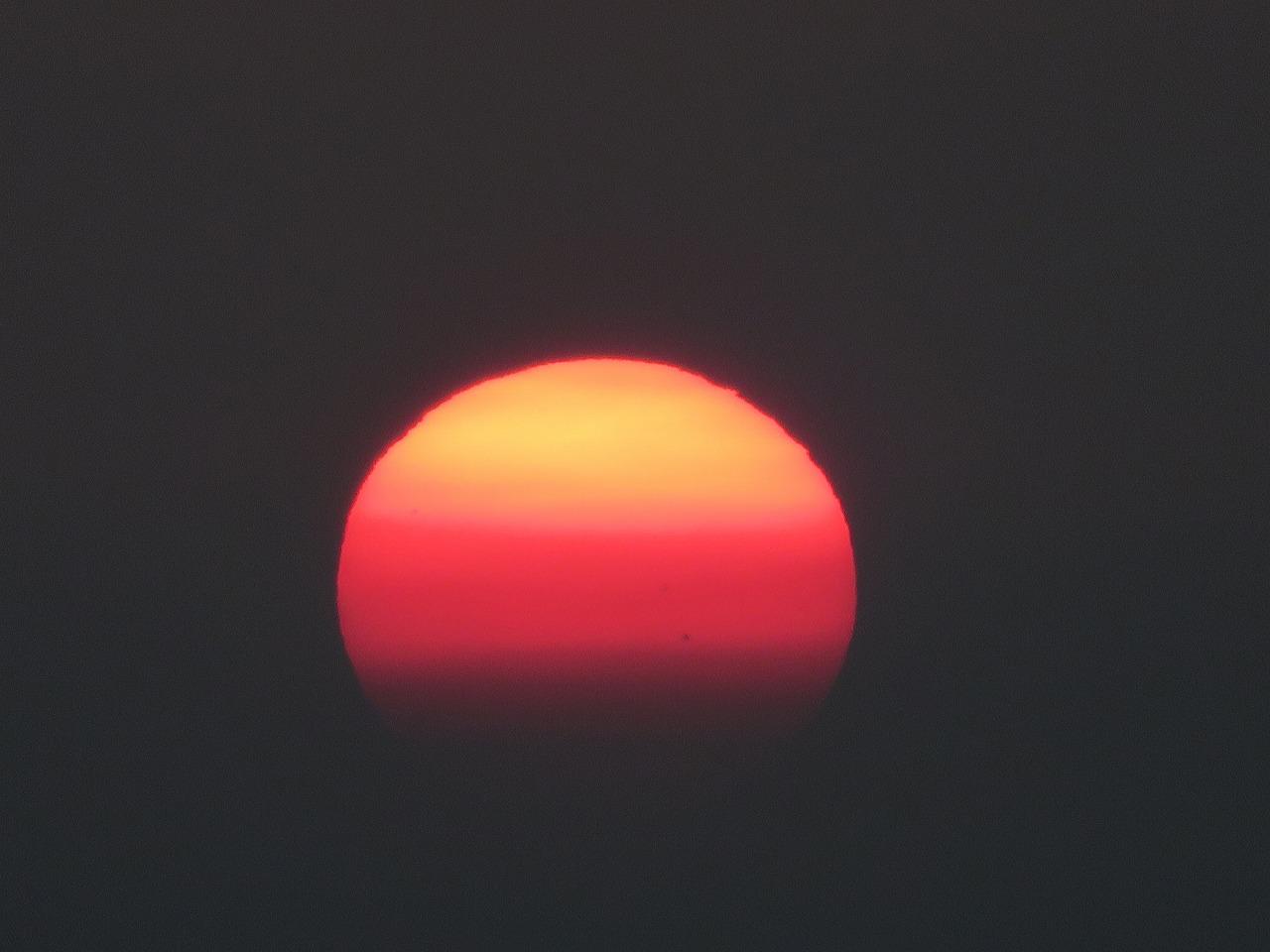 沢田公園の夕陽4
