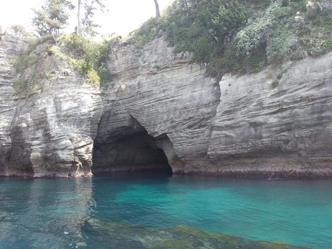 堂ヶ島の崖