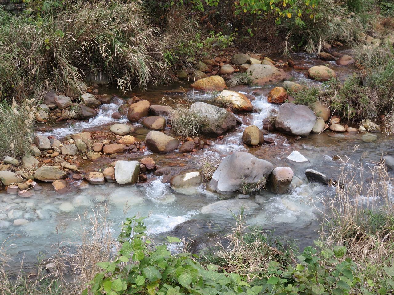 川の合流地点