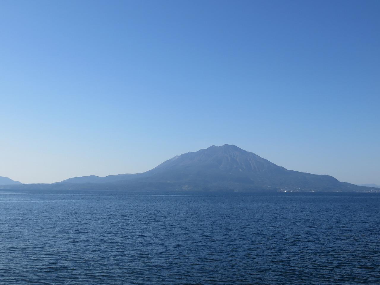 海からの桜島