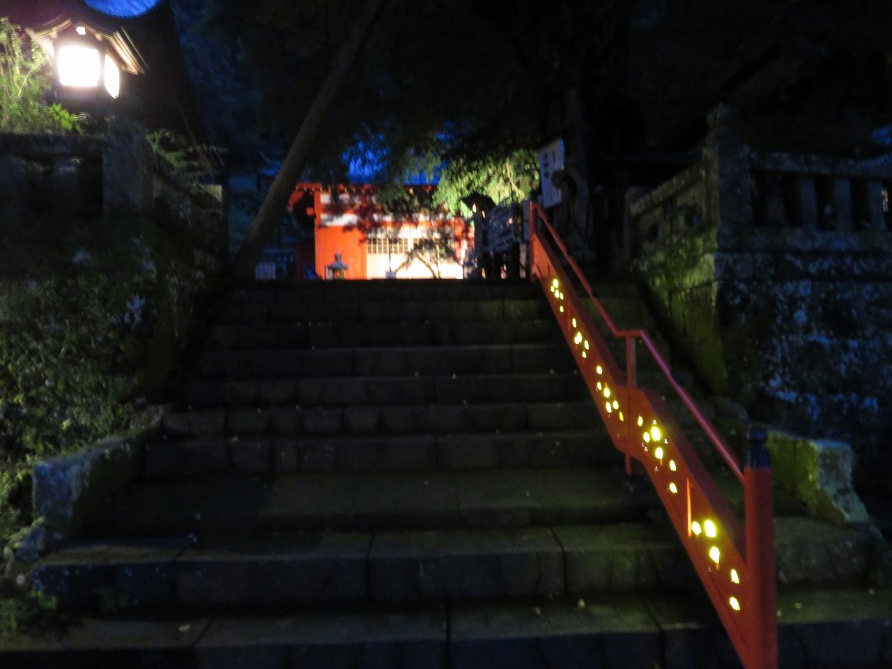 階段の電飾
