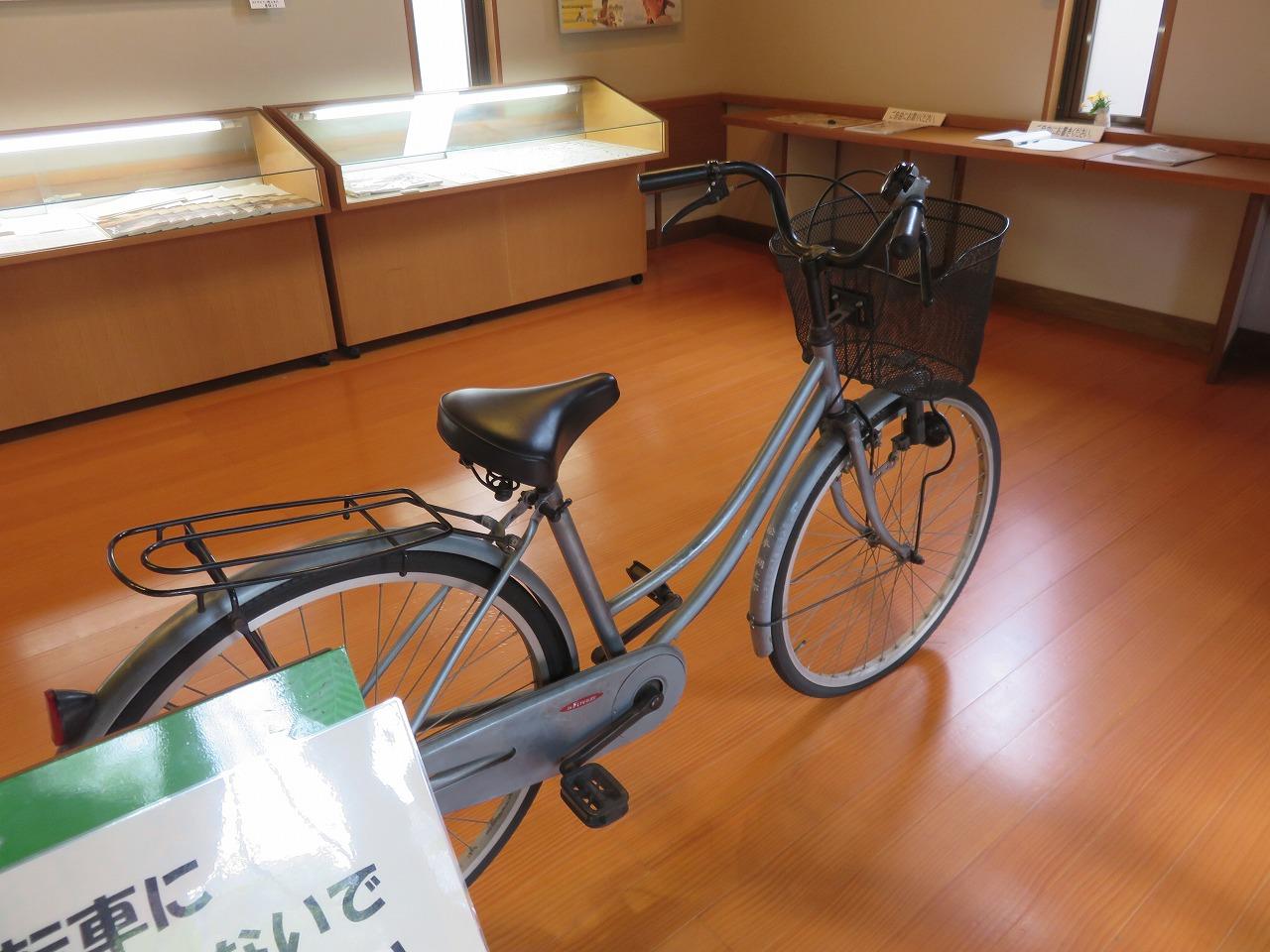 サクちゃんの自転車も!